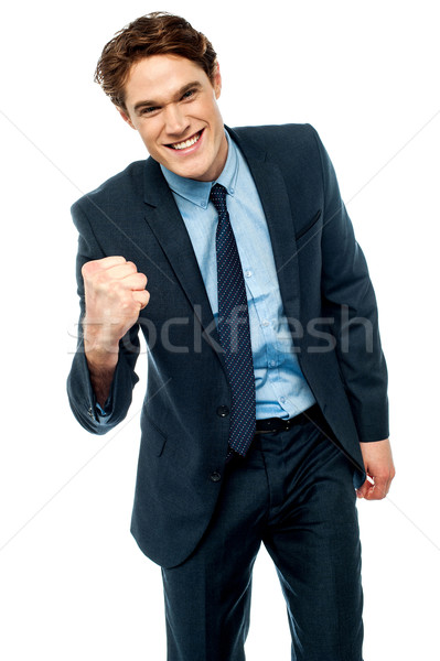 Energetic young businessman Stock photo © stockyimages