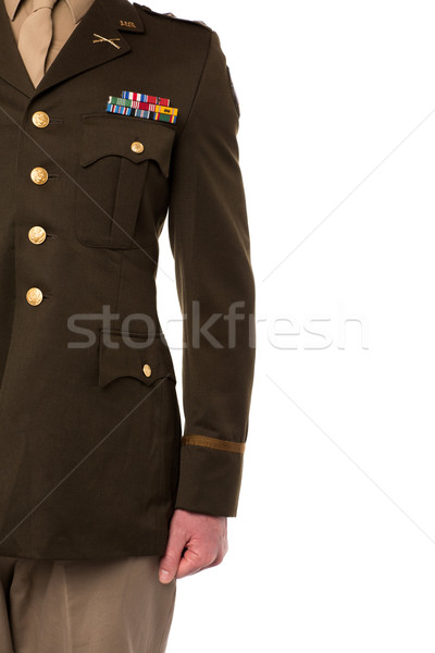 Cropped image of military officer Stock photo © stockyimages