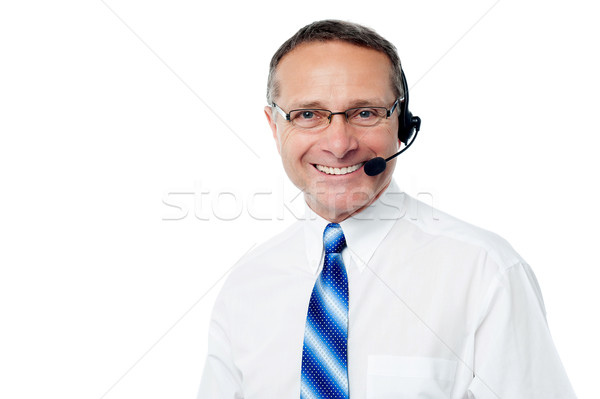 Stock photo: How may i help you sir !