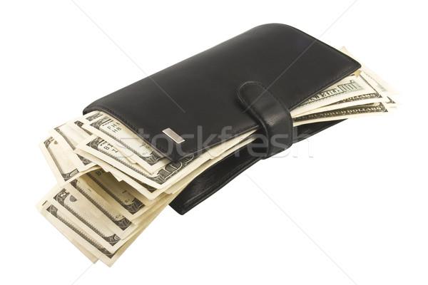 Leather billfold with money. Stock photo © stokato