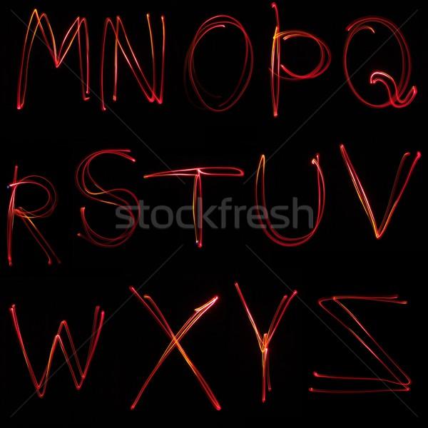 Neon siyah okul sanat eğitim yazı Stok fotoğraf © stokato