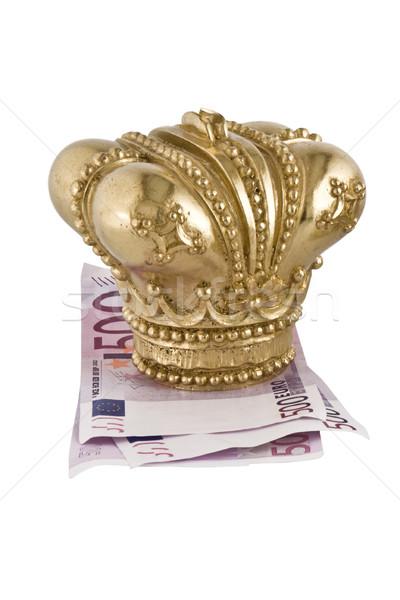 Crown on money Stock photo © stokato