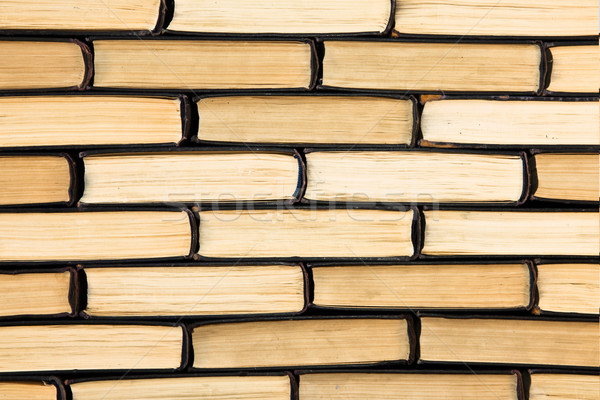Background from old books. Wall of Books  Stock photo © stokato