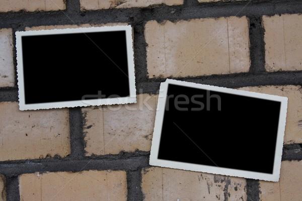 Empty  photo on brickwall Stock photo © stokato