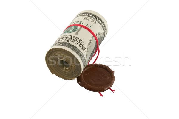 Dollars, roll, sealed Stock photo © stokato