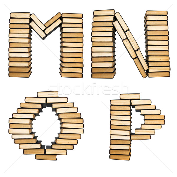 ABC from books. Alphabet, isolated on a white background Stock photo © stokato