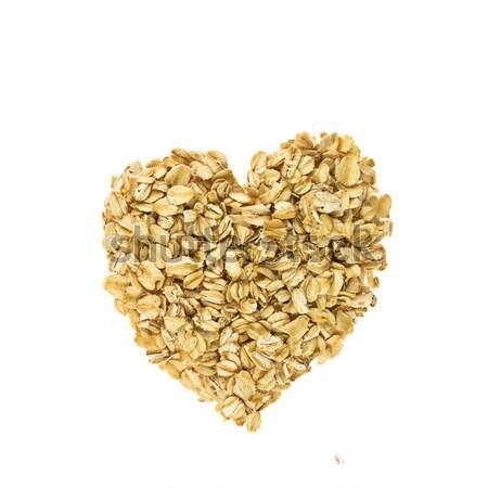 Heart from oatmeal  Stock photo © stokato