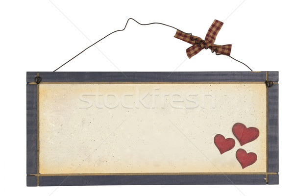 Wood notice board Stock photo © stokato