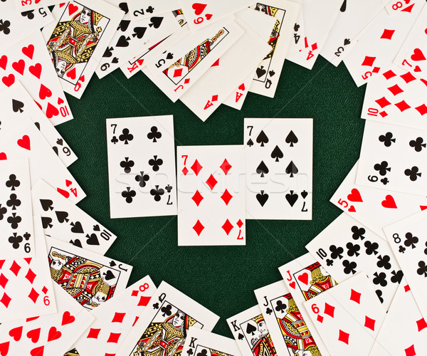 Playing cards  in Heart-shaped Stock photo © stokato