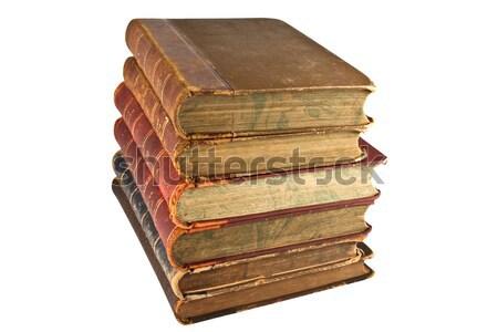 Kule eski kitaplar yalıtılmış beyaz kâğıt Stok fotoğraf © stokato