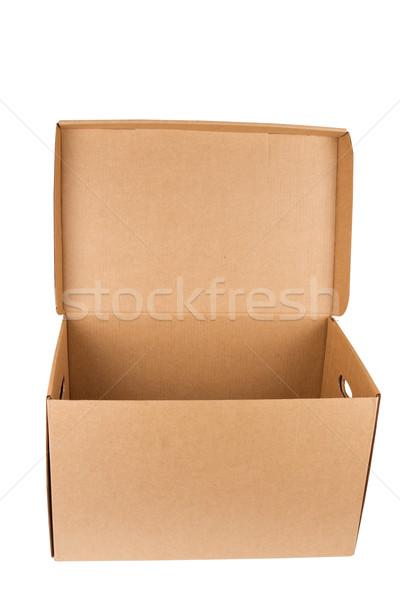 Açmak boş kutu yalıtılmış Stok fotoğraf © stokato