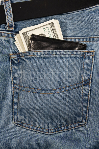 Cüzdan para kot arka plan alışveriş finanse Stok fotoğraf © stokato