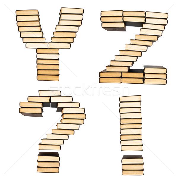 ABC from books. Alphabet  isolated on a white background Stock photo © stokato