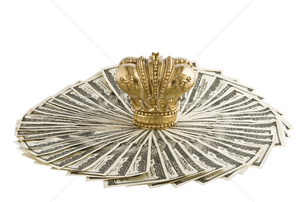 Crown on  dollars Stock photo © stokato