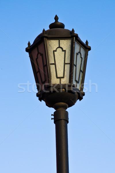 Sokak fener mavi gökyüzü şehir arka plan Metal Stok fotoğraf © stokato