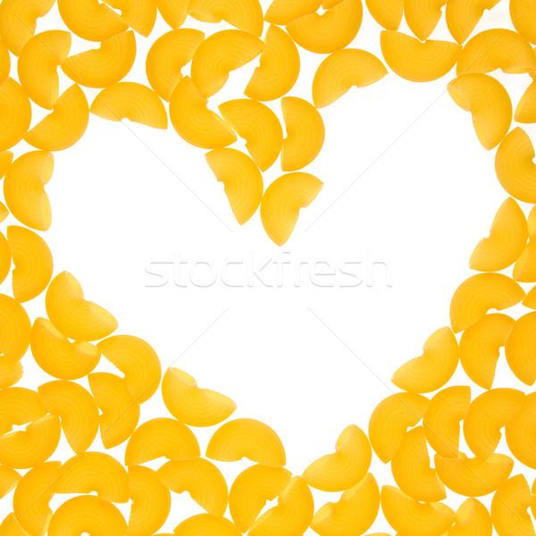 çerçeve makarna form kalp soyut doğa Stok fotoğraf © stokato
