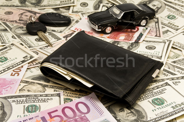 Car key,keychain,car,wallet,money  Stock photo © stokato