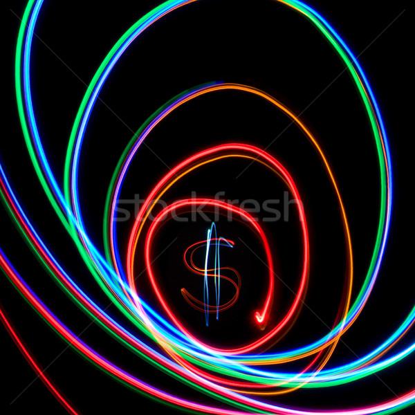 Dollar in neon spiral  Stock photo © stokato