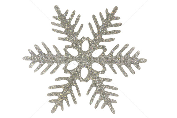 Silver snowflake Stock photo © stokato