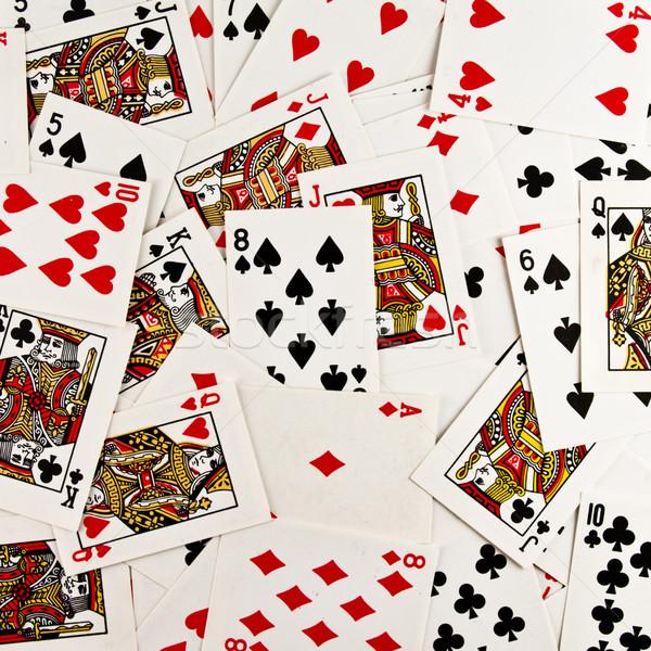 Iskambil kartları grup doku kumarhane poker kart Stok fotoğraf © stokato