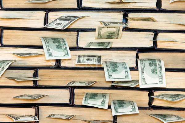 Dollars in books. Stock photo © stokato