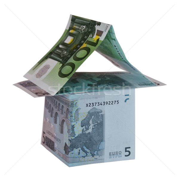 Euro beyaz para Bina banka satış Stok fotoğraf © stokato