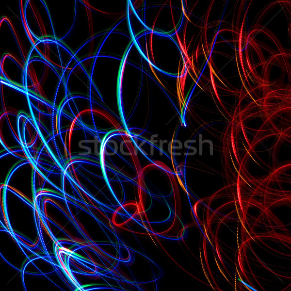 Chaotic colorful lights  Stock photo © stokato