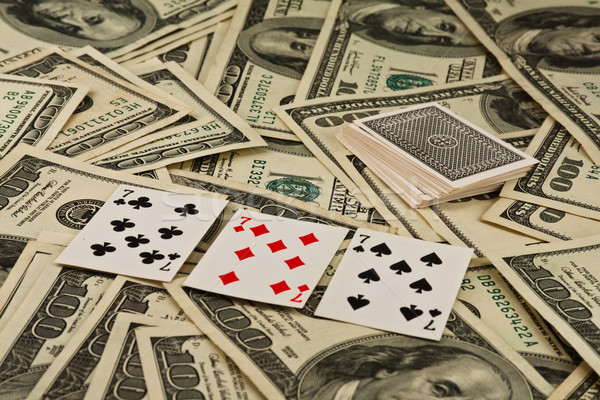 Playing cards and money Stock photo © stokato