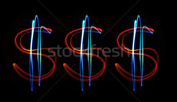 Neon dollars Stock photo © stokato
