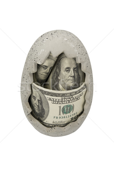 Dollars in ceramic egg  Stock photo © stokato