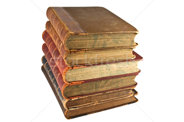 Stock photo: Tower of old books.