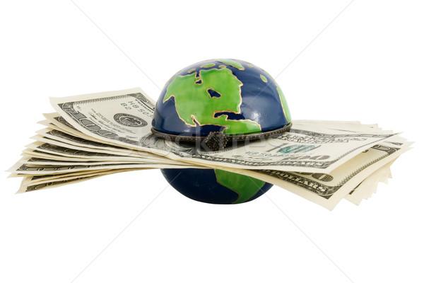 Money in globe Stock photo © stokato