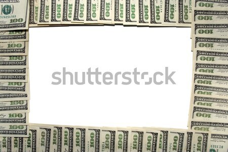 Frame of dollars Stock photo © stokato