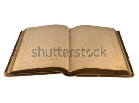 Açmak eski kitap boş kitap çalışma Stok fotoğraf © stokato