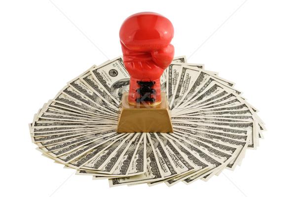 Boxer glove on money Stock photo © stokato
