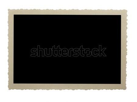 Boş fotoğraf yalıtılmış beyaz kâğıt film Stok fotoğraf © stokato