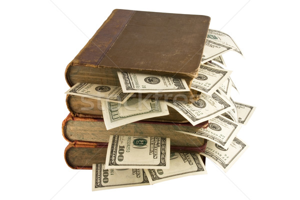 Money in old books Stock photo © stokato