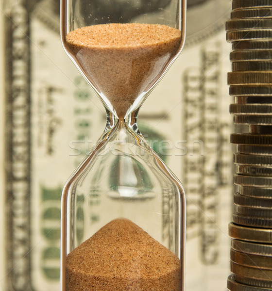 Time - money, hourglass,coins,  Stock photo © stokato