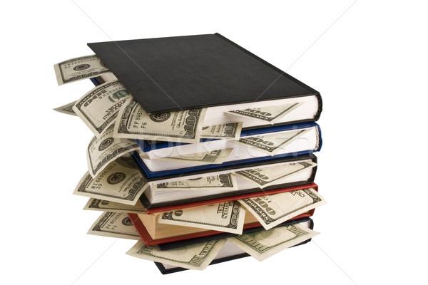 Stock photo: Money in books