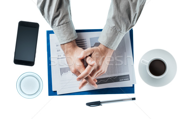 Stock photo: Businessman at desk