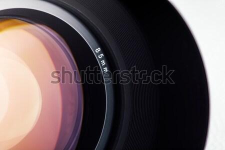 Dijital fotoğraf makinesi objektif profesyonel beyaz cam Stok fotoğraf © stokkete