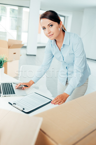 Office relocation checklist Stock photo © stokkete
