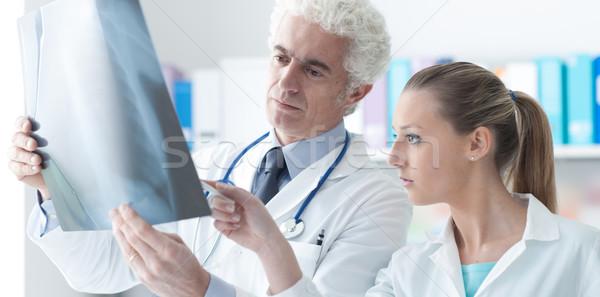 Radyolog xray asistan ofis sağlık önleme Stok fotoğraf © stokkete