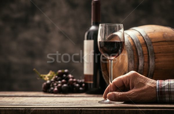 Vin tradition culture supérieurs dégustation verre Photo stock © stokkete