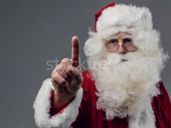 Kerstman gebruiker interface interactieve communicatie Stockfoto © stokkete
