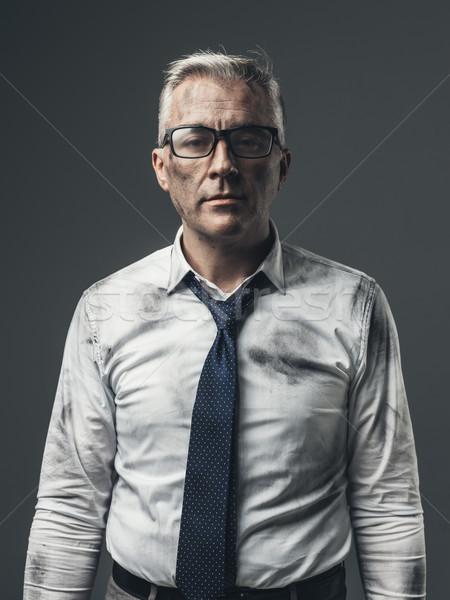 Broke unemployed businessman Stock photo © stokkete