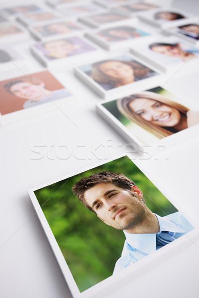 Stok fotoğraf: Portreler · insanlar · grup · insanlar · genç · iş · adamı · ön · plan