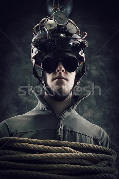 Geest controle man helm menselijke Stockfoto © stokkete