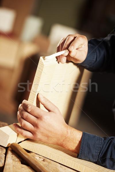 Falegname lavoro professionali colla legno Foto d'archivio © stokkete