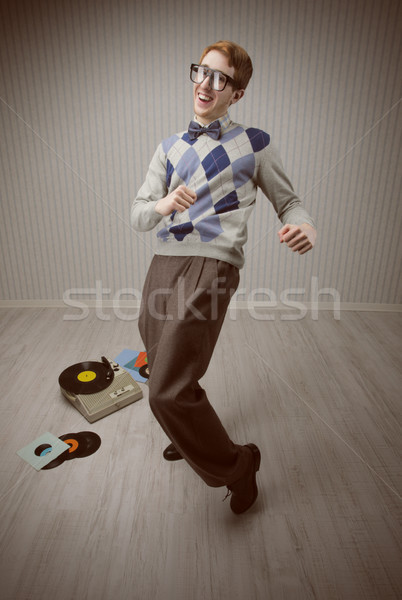 Inek öğrenci dansçı öğrenci dans tek başına eğlence Stok fotoğraf © stokkete